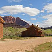 Grafton Utah Butch Cassidy Movie Set Panorama Art Print