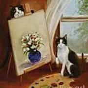 Graham's Cats The Artists Art Print