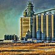 Grain Elevators Art Print