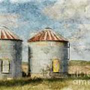 Grain Silos - Digital Paint Art Print
