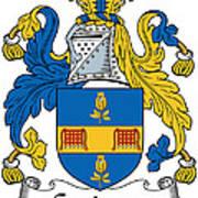 Grainger Coat Of Arms Irish Art Print
