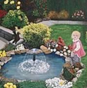 Gramma Nanna S Pond Art Print