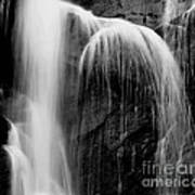 Grampians Waterfall Bw Art Print