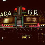 Night Lights Granada Theater Art Print