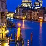 Grand Canal Of Venice Dusk Art Print