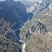 Grand Canyon Du Verdon Overview Art Print
