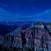 Grand Canyon In Moonlight Art Print