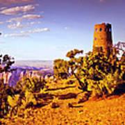 Grand Canyon National Park Golden Hour Watchtower Art Print