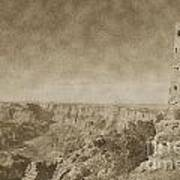 Grand Canyon National Park Mary Colter Designed Desert View Watchtower Vintage Art Print