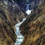 Grand Canyon Of Yellowstone - From Artist Point Art Print