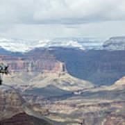 Grand Canyon Shadows And Snow Art Print