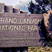 Grand Canyon Signage Art Print