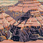 Grand Canyon Travel Poster 1938 Art Print