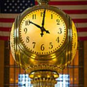 Grand Central Clock Art Print