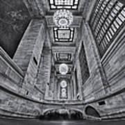 Grand Central Corridor Bw Art Print