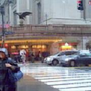 Grand Central Rain - 42nd Street Art Print