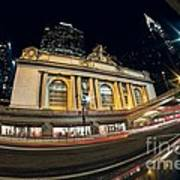Grand Central Station And Chrysler Building Art Print