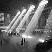 Grand Central Station Sunbeams Art Print
