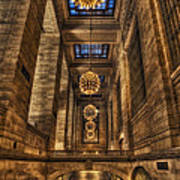 Grand Central Terminal Station Chandeliers Art Print