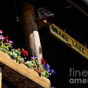 Grand Lake Lodge Porch Art Print