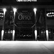 Grand Ole Opry At Night Art Print by Dan Sproul