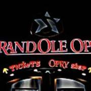 Grand Ole Opry Entrance Art Print