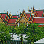 Grand Palace Of Thailand From Waterways Of Bangkok-thailand Art Print