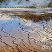 Grand Prismatic Runoff - Yellowstone Art Print