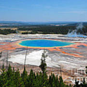 Grand Prismatic Spring From Above Art Print