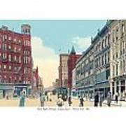 Grand Rapids - Michigan - Campau Square And Monroe Street - 1912 Art Print