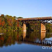 Grand River Autumn Freight Train Art Print