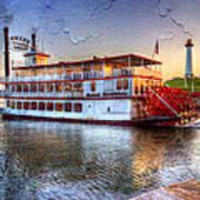 Grand Romance Riverboat Art Print