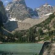 1m9387-v-grand Teton And Delta Lake - V Art Print