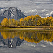 Grand Teton Gold Art Print