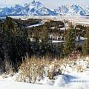 Grand Teton Landscape Art Print