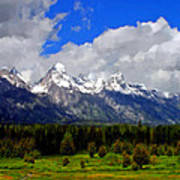 Grand Teton Mountains Art Print
