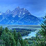 Grand Teton  - Snake River Overlook  Art Print