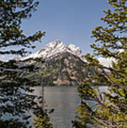 Grand Teton On Jenny Lake - Grand Teton National Park Wyoming Art Print