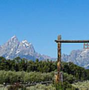 Grand Teton Ranch Art Print