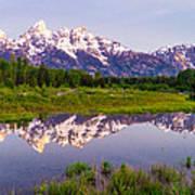 Grand Teton Reflection Art Print