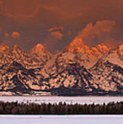 Grand Teton Winter Sunrise  Art Print