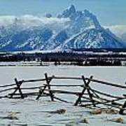 1m9306-grand Tetons From Ranch Country Art Print