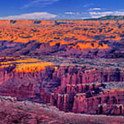 Grand View Point Evening Panorama Art Print
