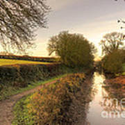 Grand Western Canal At Halberton  Art Print