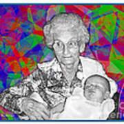 Grandma And Rose Art Print