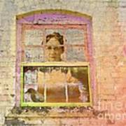 Grandma At The Window Art Print