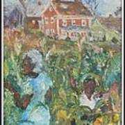 Grandma Higgins Corn Harvest Art Print