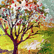 Grandmas Apple Tree Modern Art Art Print