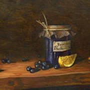 Grandma's Blueberry Jam Art Print
