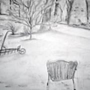 Grandpa's Backyard II Art Print